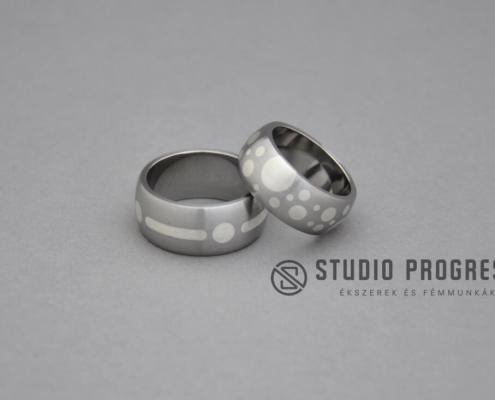 Acél karikagyűrűk fémberakásos - studioprogress.hu
