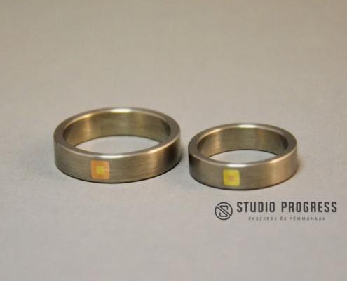 Titán karikagyűrű arannyal - studioprogress.hu