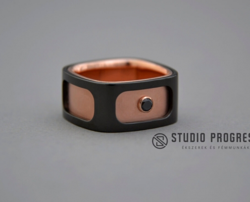 Vörösarany acél eljegyzési gyűrű - studioprogress.hu
