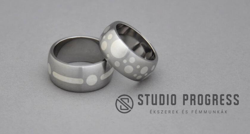 acél karikagyűrű fémberakásos - studioprogress.hu